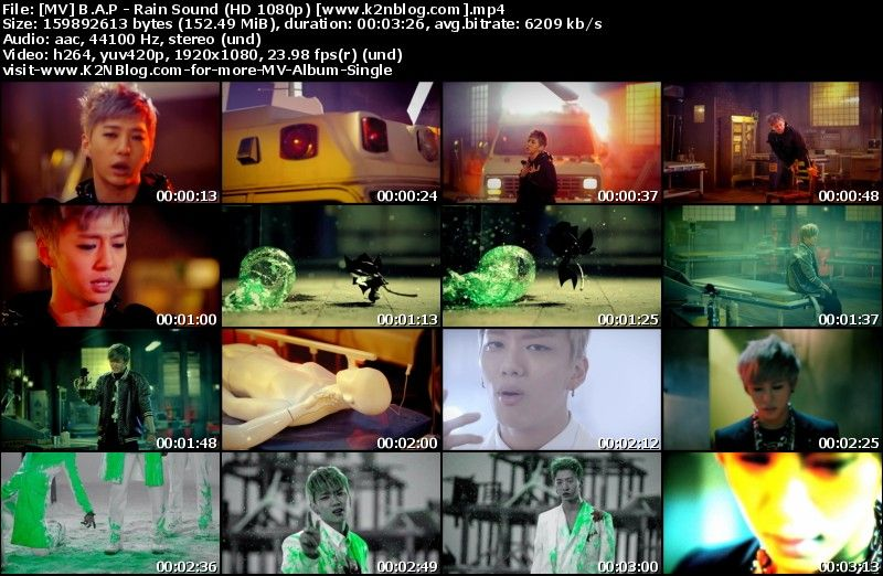 [MV] B.A.P   Rain Sound (HD 1080p Youtube)