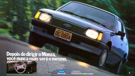 Depois de dirigir o Chevrolet Monza, você nunca mais será o mesmo.
