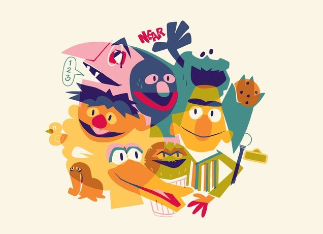 Sesame Street Threadless tee