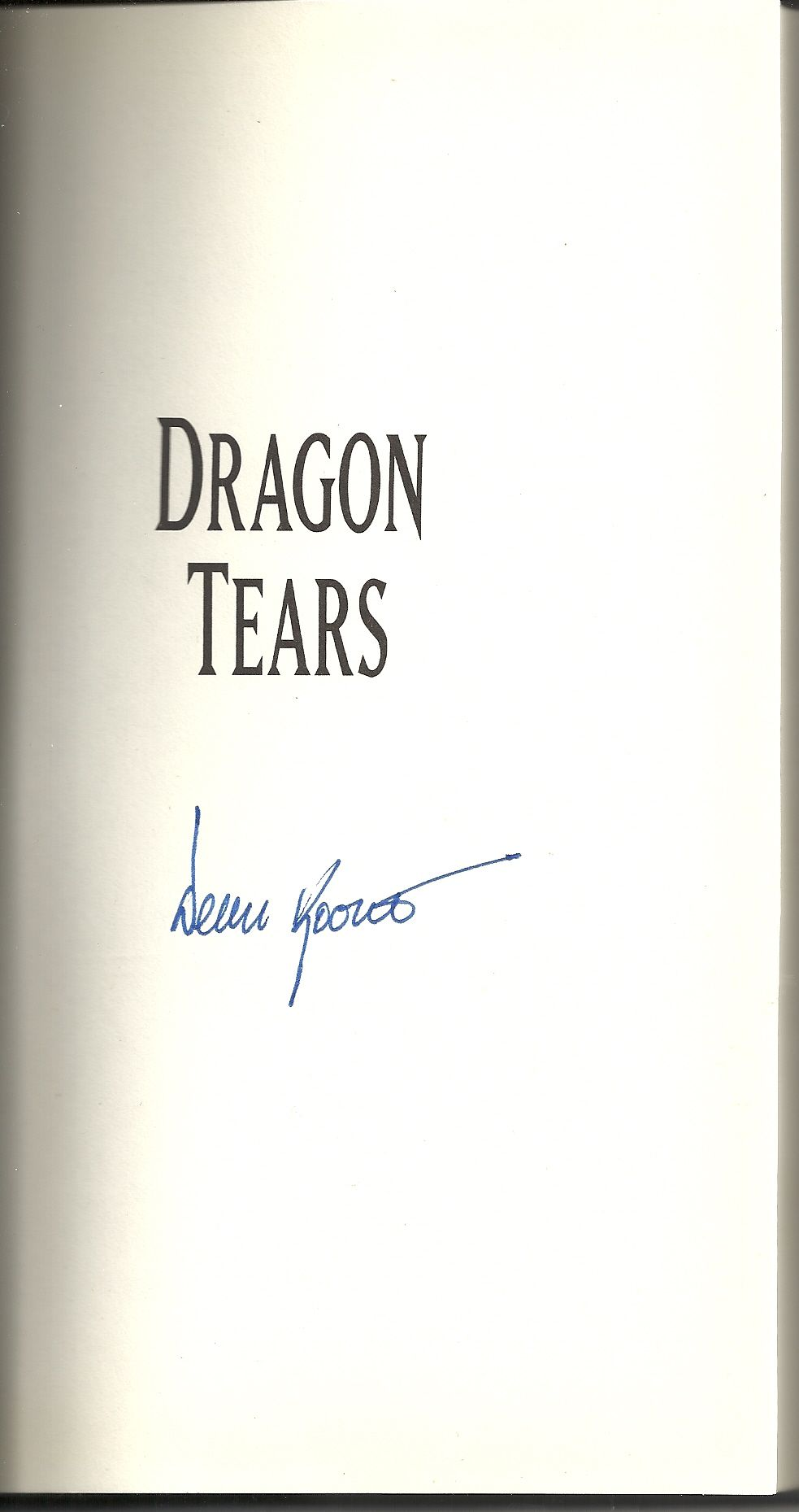 Dragon Tears, Koontz, Dean