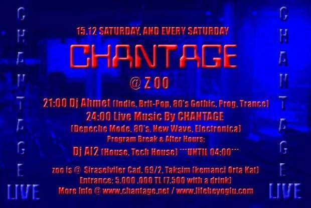 Neodiscotheque Chantage @Zoo 15 Aralık 2001