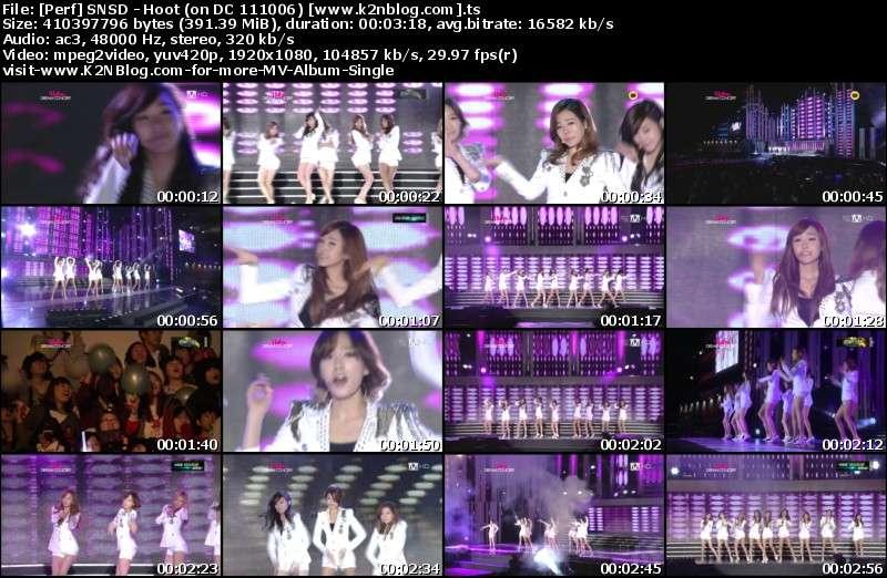 SNSD - Hoot (on Dream Concert 111006) Thumbnail